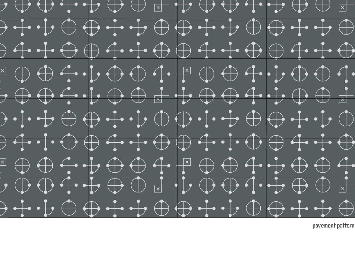pavement pattern stencil