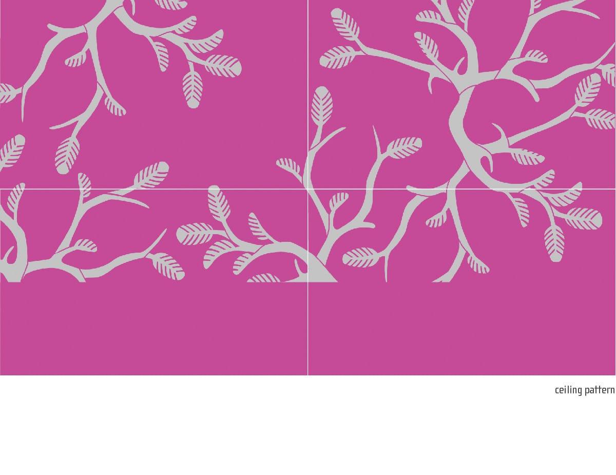 ceiling pattern stencil